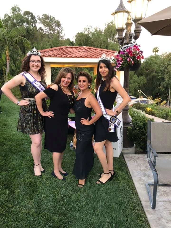 Carmen and Maria with the beautiful La Habra Princesses